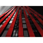 Red Building City WORK HARD 3D Greeting Card (7x5) Front