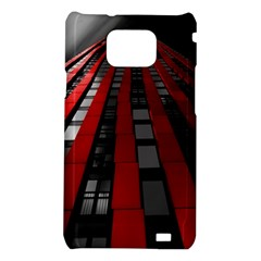 Red Building City Samsung Galaxy S2 i9100 Hardshell Case
