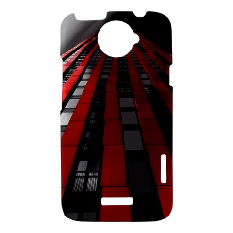 Red Building City HTC One X Hardshell Case