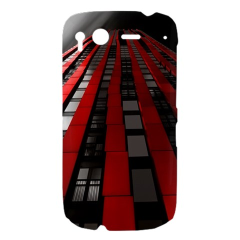 Red Building City HTC Desire S Hardshell Case