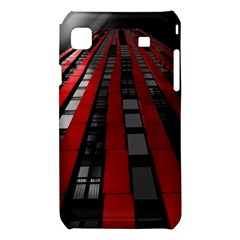 Red Building City Samsung Galaxy S i9008 Hardshell Case