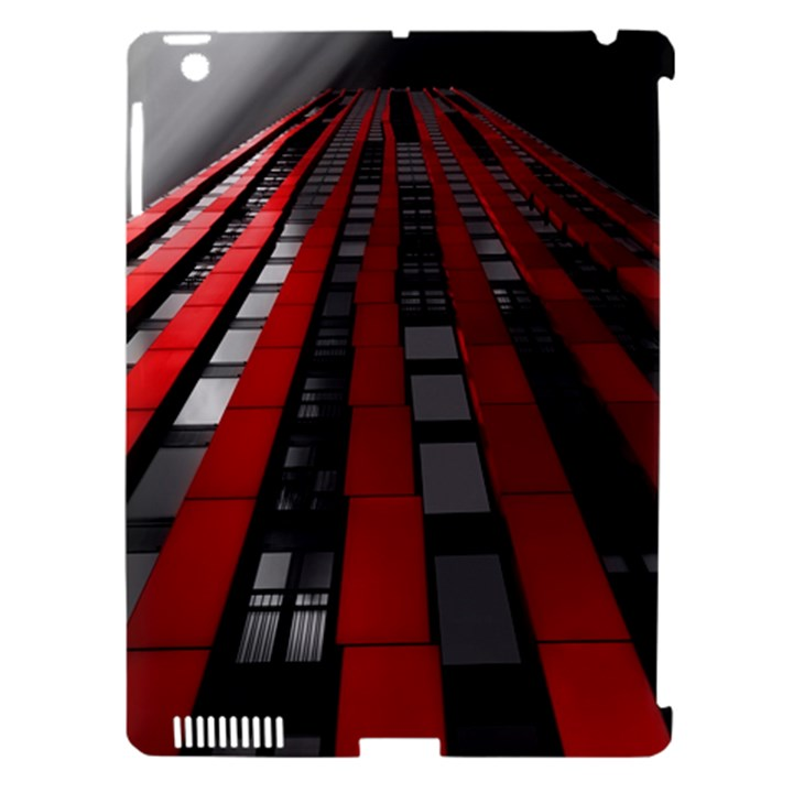 Red Building City Apple iPad 3/4 Hardshell Case (Compatible with Smart Cover)