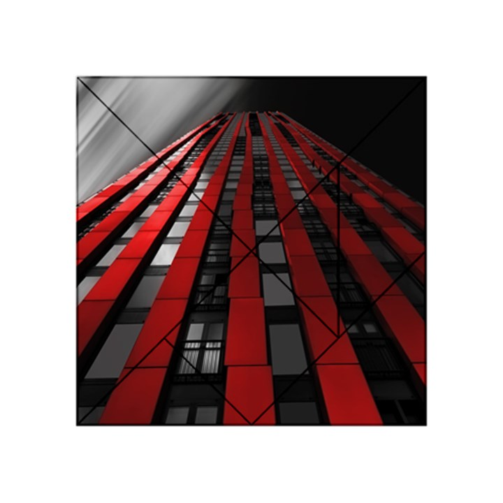Red Building City Acrylic Tangram Puzzle (4  x 4 )