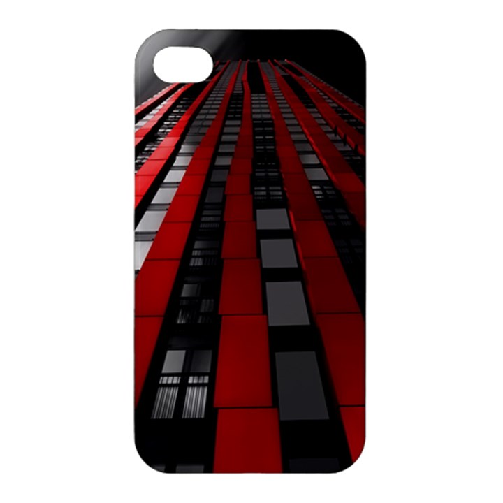 Red Building City Apple iPhone 4/4S Premium Hardshell Case