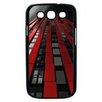 Red Building City Samsung Galaxy S III Case (Black) Front