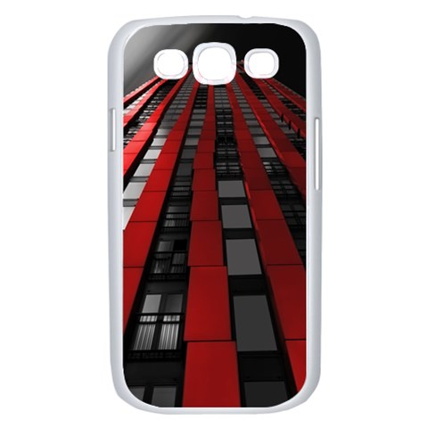 Red Building City Samsung Galaxy S III Case (White)