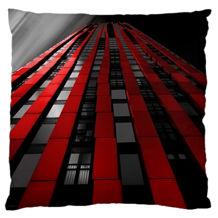 Red Building City Large Cushion Case (One Side)