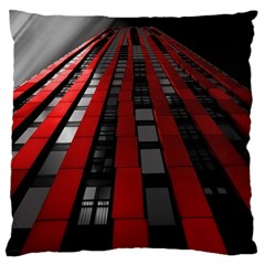 Red Building City Large Cushion Case (Two Sides)