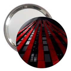Red Building City 3  Handbag Mirrors