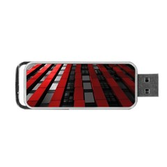 Red Building City Portable USB Flash (One Side)