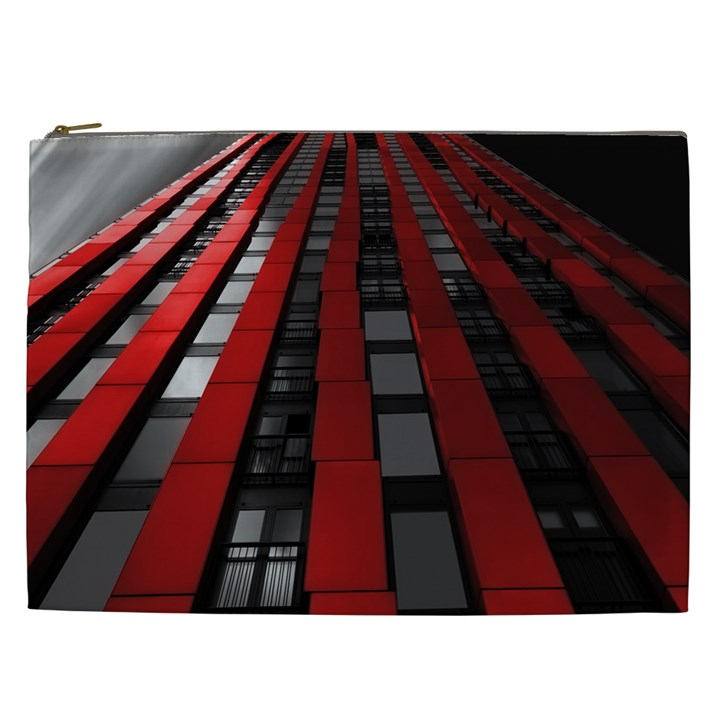 Red Building City Cosmetic Bag (XXL)