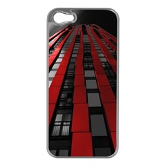 Red Building City Apple iPhone 5 Case (Silver)