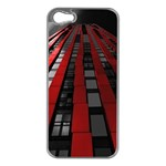 Red Building City Apple iPhone 5 Case (Silver) Front