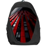 Red Building City Backpack Bag Front
