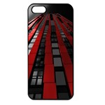 Red Building City Apple iPhone 5 Seamless Case (Black) Front