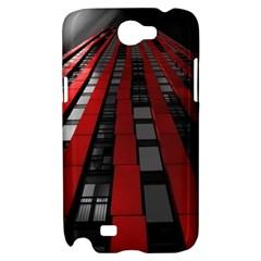 Red Building City Samsung Galaxy Note 2 Hardshell Case