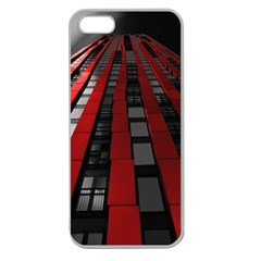 Red Building City Apple Seamless iPhone 5 Case (Clear)