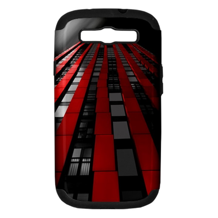 Red Building City Samsung Galaxy S III Hardshell Case (PC+Silicone)