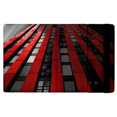 Red Building City Apple iPad 2 Flip Case