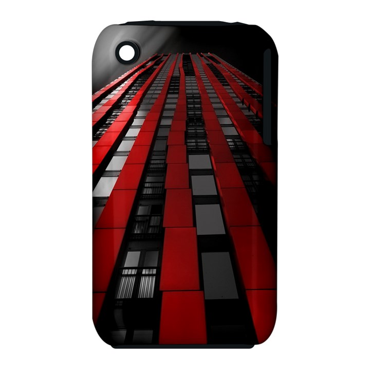 Red Building City Apple iPhone 3G/3GS Hardshell Case (PC+Silicone)