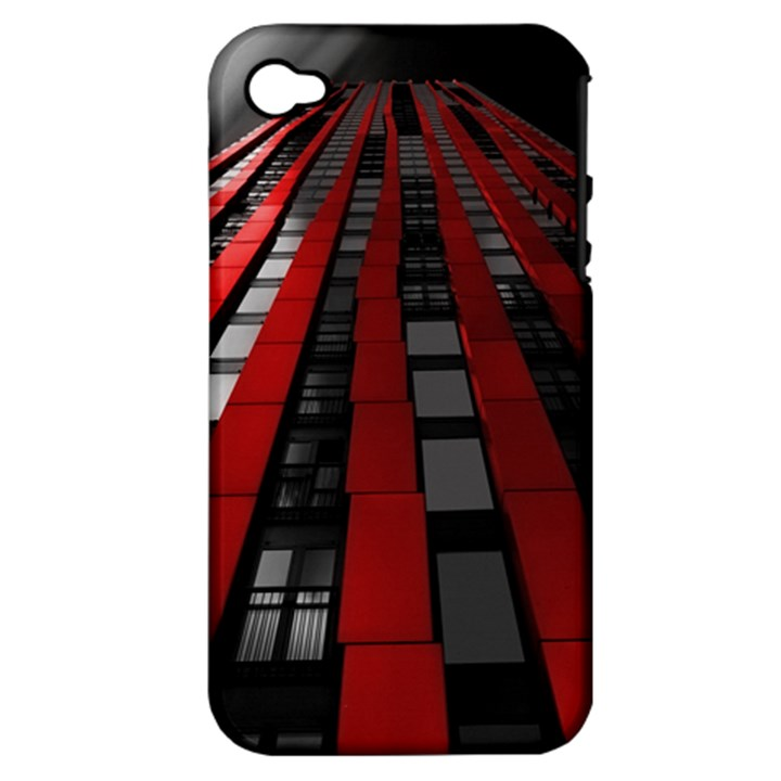Red Building City Apple iPhone 4/4S Hardshell Case (PC+Silicone)
