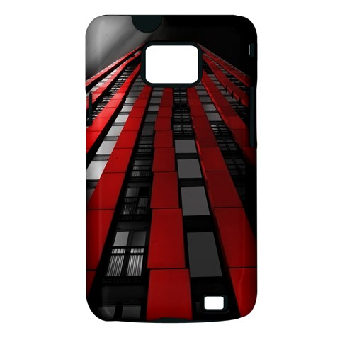 Red Building City Samsung Galaxy S II i9100 Hardshell Case (PC+Silicone)