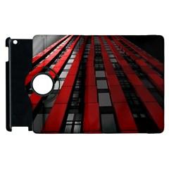 Red Building City Apple iPad 2 Flip 360 Case