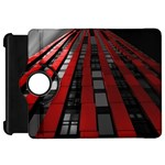 Red Building City Kindle Fire HD Flip 360 Case Front