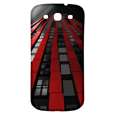 Red Building City Samsung Galaxy S3 S III Classic Hardshell Back Case