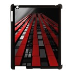 Red Building City Apple iPad 3/4 Case (Black) Front