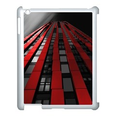 Red Building City Apple iPad 3/4 Case (White)