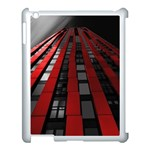 Red Building City Apple iPad 3/4 Case (White) Front