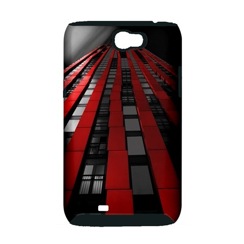 Red Building City Samsung Galaxy Note 2 Hardshell Case (PC+Silicone)