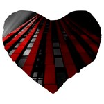 Red Building City Large 19  Premium Heart Shape Cushions Front
