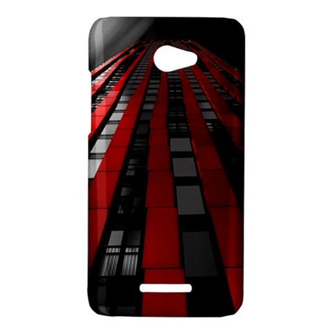 Red Building City HTC Butterfly X920E Hardshell Case