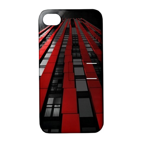 Red Building City Apple iPhone 4/4S Hardshell Case with Stand