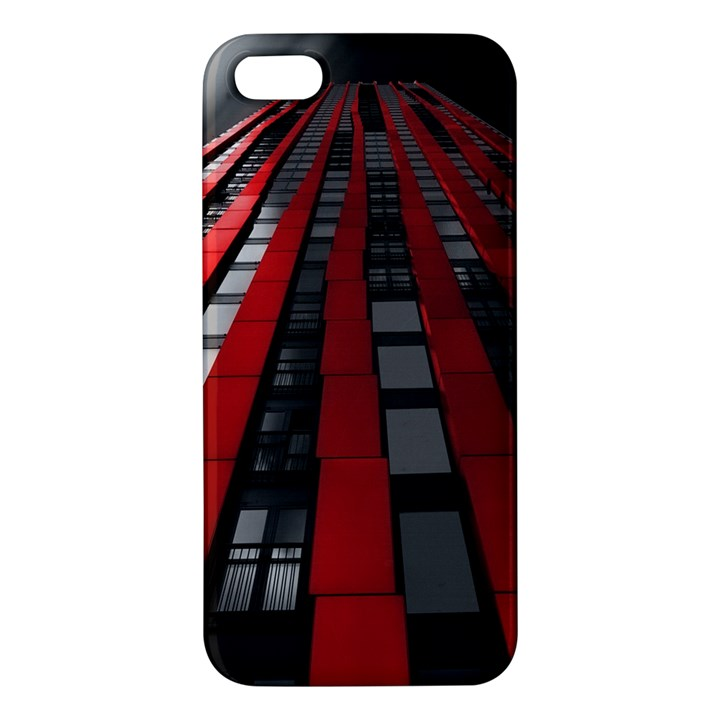 Red Building City Apple iPhone 5 Premium Hardshell Case