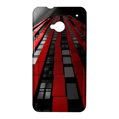 Red Building City HTC One M7 Hardshell Case
