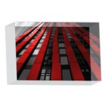 Red Building City 4 x 6  Acrylic Photo Blocks Front