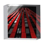 Red Building City 5  x 5  Acrylic Photo Blocks Front