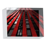 Red Building City 5 x 7  Acrylic Photo Blocks Front