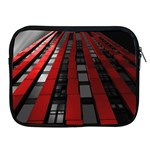Red Building City Apple iPad 2/3/4 Zipper Cases Front