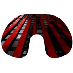 Red Building City Travel Neck Pillows Back
