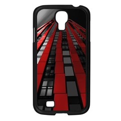 Red Building City Samsung Galaxy S4 I9500/ I9505 Case (Black)
