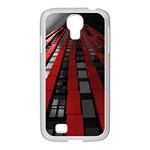 Red Building City Samsung GALAXY S4 I9500/ I9505 Case (White) Front