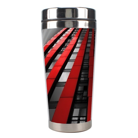 Red Building City Stainless Steel Travel Tumblers