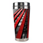 Red Building City Stainless Steel Travel Tumblers Left