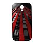 Red Building City Samsung Galaxy S4 I9500/I9505  Hardshell Back Case Front