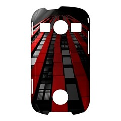 Red Building City Samsung Galaxy S7710 Xcover 2 Hardshell Case
