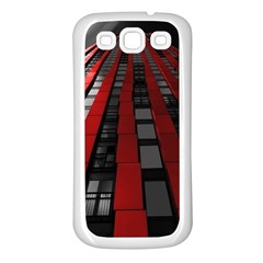 Red Building City Samsung Galaxy S3 Back Case (White)